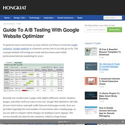 Guide To A/B Testing With Google Website Optimizer - Hongkiat