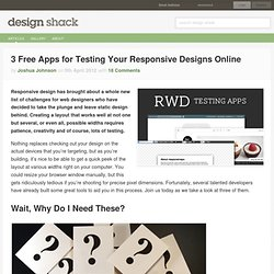 3 Free Apps for Testing Your Responsive Designs Online