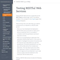 Testing RESTful Web Services