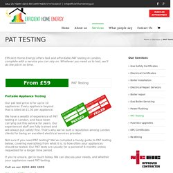 PAT Testing in London from £59 - Same day service
