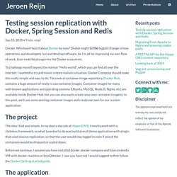 Testing session replication with Docker, Spring Session and Redis