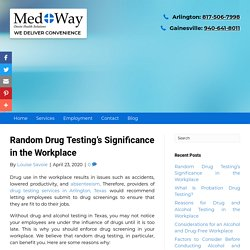Random Drug Testing's Significance in the Workplace