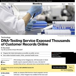 DNA-Testing Service Exposed Thousands of Customer Records Online
