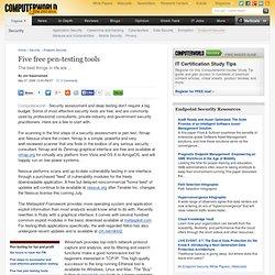 Five free pen-testing tools