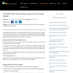 Getting Started with NUnit in ASP.NET MVC