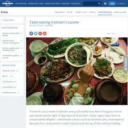 Taste testing Vietnam's cuisine