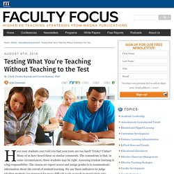 Testing What You're Teaching Without Teaching to the Test