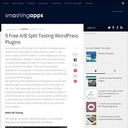 9 Free A/B Split Testing WordPress Plugins