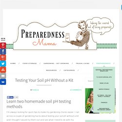 Testing Your Soil pH Without a Kit - PreparednessMama