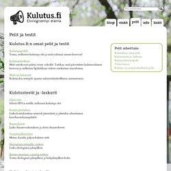 Pelit ja testit - Luonto-Liitto - Kulutus.fi