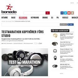 Testmarathon Kopfhörer fürs Studio