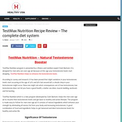 TestMax Nutrition Recipe Review – The complete diet system