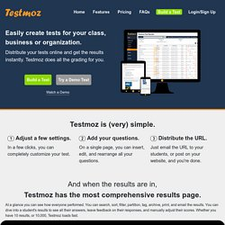 Testmoz - The Test Generator