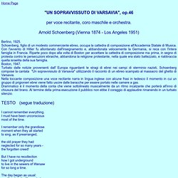 Un sopravvissuto di Varsavia - A. Schoenberg (testo)