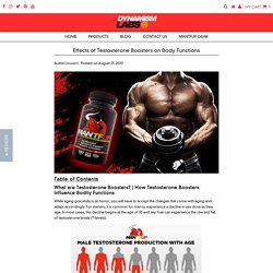 Effects of Testosterone Boosters on Body Functions – Dynamism Labs