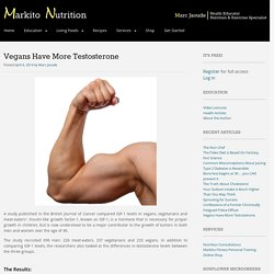 Vegans Have More Testosterone