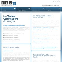 Les Tests et Certifications de français