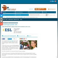 Tests de langues gratuits - ESL