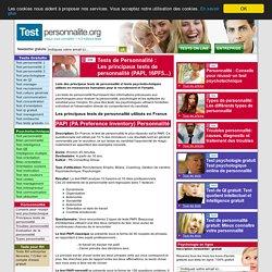 Liste complète des tests personnalité
