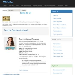 Tests de QI gratuits et tests de personnalité