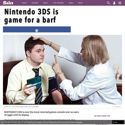 Sun tests 'sickly' Nintendo 3DS