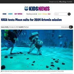 NASA tests new space suits for 2024 Artemis Moon mission