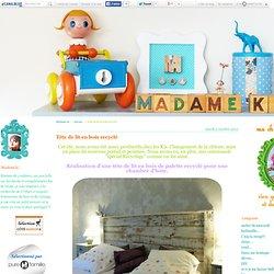 Tête de lit en bois recyclé - Madame ki...