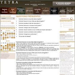 TETRA - Questions Fréquentes