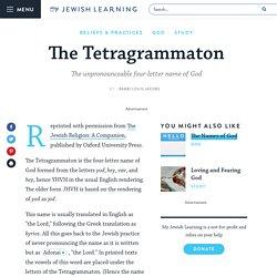 The Tetragrammaton
