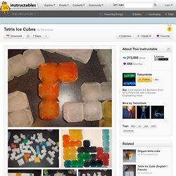 How to make Tetris ice cubes!