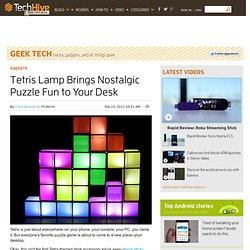 Tetris Lamp Brings Nostalgic Puzzle Fun to Your Desk
