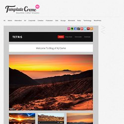 Tetris – WordPress Theme | Template Creme