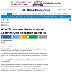 What Texans need to know about Common Core education standards