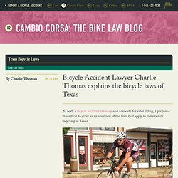 Texas Bicycle Laws