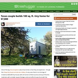 Texas couple builds 100 sq. ft. tiny home for $7,000