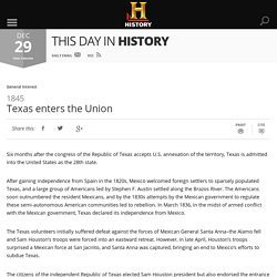 Texas enters the Union - Dec 29, 1845 - HISTORY.com