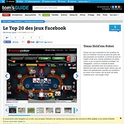 Le Top 20 des jeux Facebook : Texas Hold'em Poker