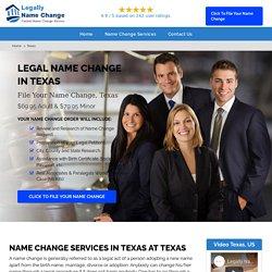 Texas Legal Name Change