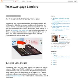 Texas Mortgage Lenders