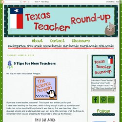 Texas Teacher Round-Up: 5 Tips for New Teachers