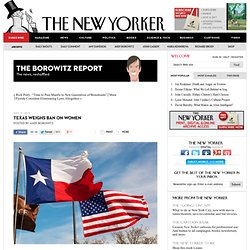 Texas Weighs Ban on Women