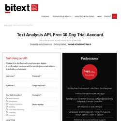 Text Analysis API Pricing & FAQ - Bitext