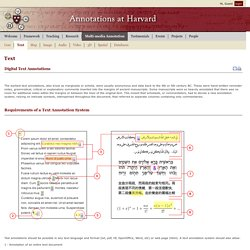 Text § Annotations at Harvard