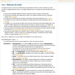 Text - Éditeurs de texte — Tkinter pour ISN