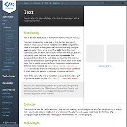 Text - Font Properties
