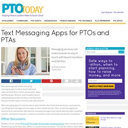 Text Messaging Apps for PTOs and PTAs - PTO Today