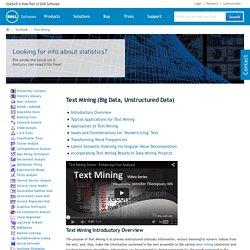 Text Mining, Big Data, Unstructured Data