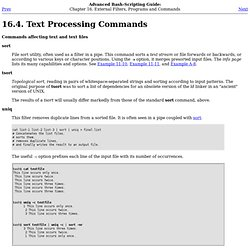 Text Processing Commands