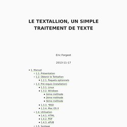 Le textallion, un simple traitement de texte