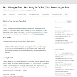 Getting Started with TextBlob